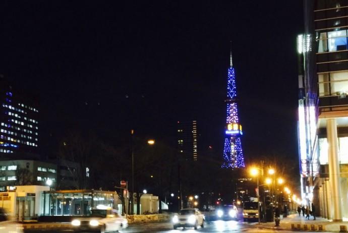 電飾された東京タワー